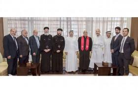 وفد من كنائس أبوظبي يشيد بجهود دائرة القضاء في ترسخ ثقافة التسامح وتحقق العدالة الناجزة