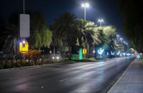 بلدية منطقة الظفرة تزين مدن المنطقة احتفالاً باليوم الوطني 48
