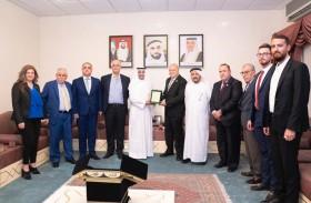 حاكم الفجيرة يستقبل الأمين العام لاتحاد الجامعات العربية