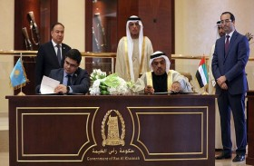 حاكم رأس الخيمة يشهد توقيع اتفاقيات تعاون مع محافظة اقمولا الكازاخستانية