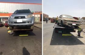 بلدية مدينة أبوظبي تنفذ حملة لمواجهة ظاهرة السيارات المهملة في مصفح والمفرق الصناعيتين