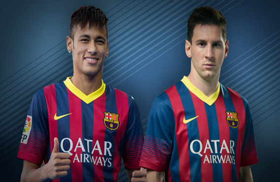 برشلونة ميسي ونيمار في مواجهة ريال كريستيانو وإسكو
