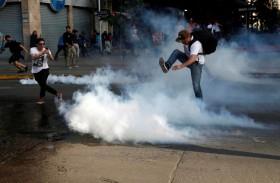 طوارىء في العاصمة التشيلية بعد تظاهرات عنيفة