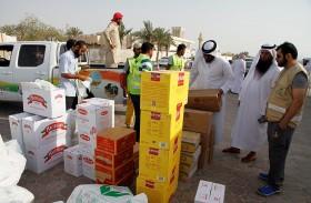 خيرية الشارقة توزع المير الرمضاني على 4750 أسرة