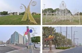 بلدية مدينة أبوظبي تشارف على الانتهاء من زينة عيد الأضحى وتشغيل الإضاءة مطلع أغسطس