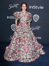 الممثلة الأمريكية كايتلين ديفر خلال حضورها الحفل السنوي الحادي والعشرين لشركة  InStyle and Warner Bros. في بيفرلي هيلز، كاليفورنيا.   ا ف ب
