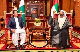 محمد بن راشد يستقبل رئيس وزراء باكستان