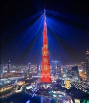 اعمار تشارك  1.39 مليار مواطن صيني في احتفالات العام الصيني الجديد عبر عروض مستوحاة من أساطير التنين في (برج خليفة)
