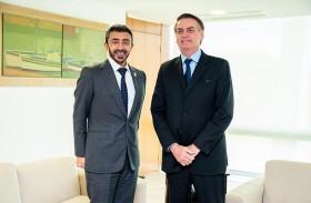 رئيس البرازيل يبحث مع عبدالله بن زايد العلاقات الثنائية والقضايا الإقليمية والدولية