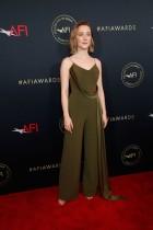 الممثلة ساويرس رونان خلال حضورها مهرجان الجوائز السنوية التاسع للأكاديمية الأسترالية لفنون السينما والتلفزيون AACTA في لوس أنجلوس.   ا ف ب