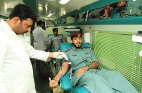 شرطة الفجيرة تطلق مبادرة قطرة دم تساوي الحياة