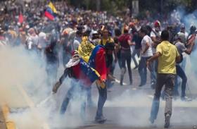 صدامات خلال تظاهرة للمعارضة الفنزويلية