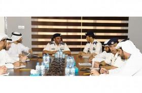 شرطة أبوظبي تناقش خطة الاستجابة للرصد الإشعاعي لمحطة  براكة