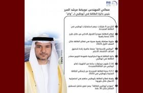 عويضة المرر : أكثر من 9 مليارات درهم استثمارات أبوظبي في الطاقة المتجددة