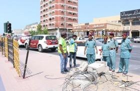 الحركة تعود لتقاطع محمد بن سالم بعد إصلاح الإشارات الضوئية