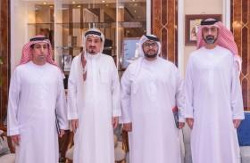 حاكم عجمان وولي عهده يثنيان على جهود فريق الملهمين المشارك في تصميم الهوية الإعلامية