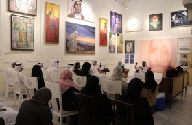 بيت الإبداع في دبي يلقي الضوء على المتعة والسعادة بين ريشة الرسام وعيون المتلقي