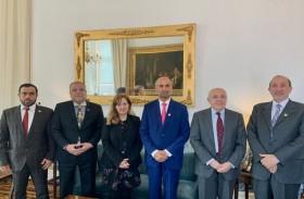 رئيس المجلس العالمي للتسامح والسلام يلتقي مسؤولين في الخارجية البرتغالية