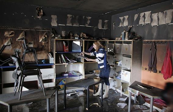 متطرفون يهود يحرقون مدرسة في القدس