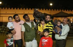 قصر المويجعي يستضيف فعالية اليوم العائلي للصقارة