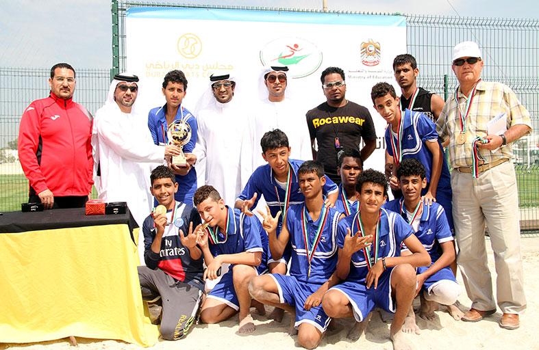 الأهلية الخيرية يحمل لقب أول بطولة مدرسية لكرة القدم الشاطئية