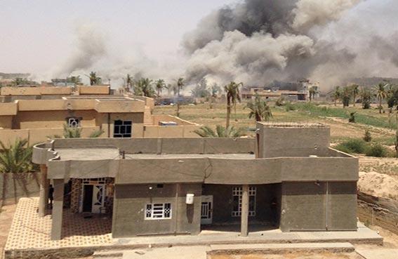 تدمير مقر عمليات داعش في الرمادي
