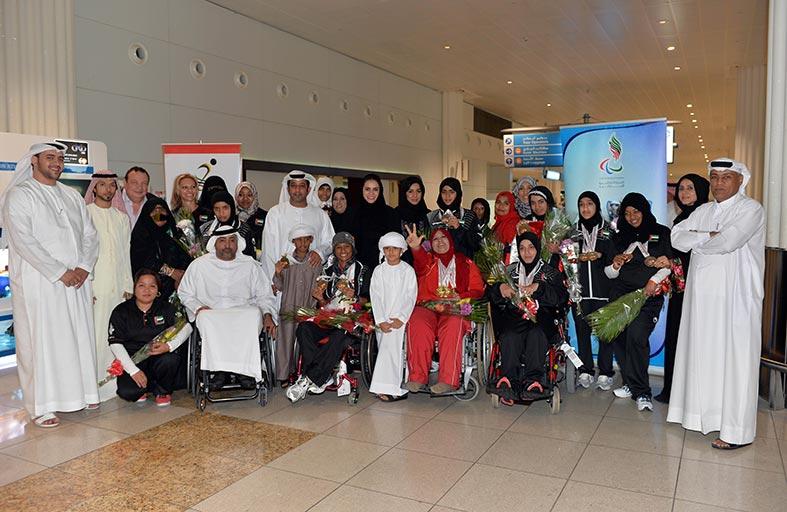 21 رصيد ميداليات منتخب المعاقين الإماراتي