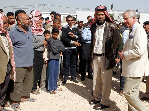 الأمير تشارلز يزور لاجئين سوريين بالأردن