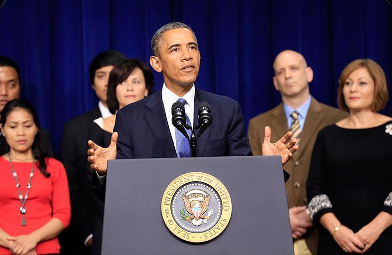 أوباما يشدد على ضرورة التحول السياسي في سوريا