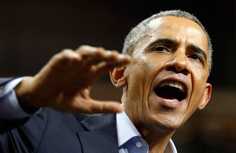 أوباما يشارك في مؤتمر انتخابي للديمقراطيين