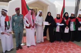 برنامج الشيخة فاطمة للتطوع يدشن المستشفى الميداني لعلاج العمال في رأس الخيمة