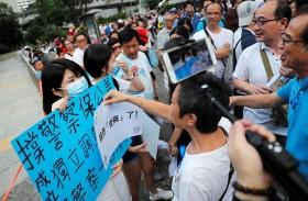 الشرطة تهدد بالتحرك حيال المتظاهرين في هونغ كونغ