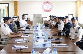 وفد من «الإمارات للطاقة النووية» والهيئة الاتحادية للرقابة النووية  يزور «عمليات شرطة أبوظبي»