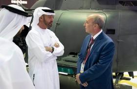 محمد بن زايد: الإمارات تشهد تقدما مهماً في مجال الصناعات العسكرية الدفاعية
