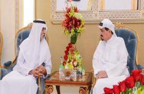 حاكم عجمان يواصل استقبال جموع المهنئين بشهر رمضان