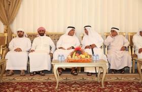 حاكم رأس الخيمة يعزي في وفاة حمد بن ابراهيم بن ناصر القاسمي
