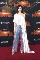 جيما تشان خلال حضورها العرض الأول لفيلم Captain Marvel في هوليوود، كاليفورنيا.  ا ف ب