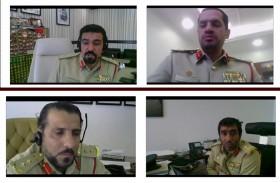 شرطة دبي تلتقي بخط الدفاع الأول في قطاع «التميز والريادة» عن بعد