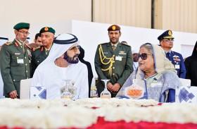 محمد بن راشد يستقبل رئيسة وزراء بنجلاديش