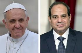 البابا يشيد بخطوات السيسي للنهوض بالدولة المصرية