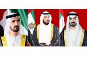 رئيس الدولة ونائبه ومحمد بن زايد يهنئون خادم الحرمين الشريفين باليوم الوطني الـ 91 للمملكة