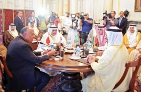 عبدالله بن زايد يشارك في اجتماع وزاري عربي في القاهرة بشأن أزمة قطر