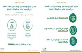 مجلس الوزراء يعتمد قرارا بهدف تعزيز الصحة العامة في المجتمع