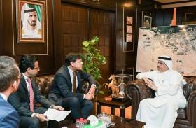 العضو المنتدب  الرئيس التنفيذي لهيئة كهرباء ومياه دبي يستقبل سفير مملكة السويد لدى الدولة