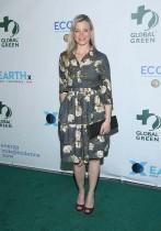 آمي سمارت خلال حضورها حفل غلوبال الأخضر قبل الأوسكار الخامس عشر في لوس أنجلوس بولاية كاليفورنيا. (ا ف ب)