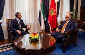 عبدالله بن زايد يلتقي وزير خارجية مونتنيغرو
