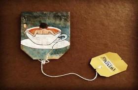 تحول أكياس الشاي إلى لوحات مدهشة
