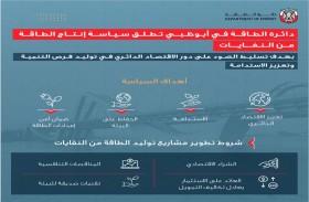 دائرة الطاقة في أبوظبي تطلق سياسة إنتاج الطاقة من النفايات