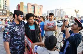 شرطة عجمان تستقبل موكب التسامح وتنظم فعاليات ترفيهية احتفالا باليوم الوطني 48
