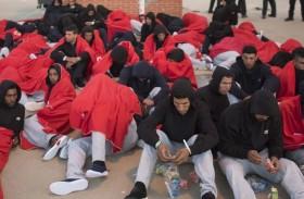مهاجرون أفارقة في المغرب ينتظرون المساعدة